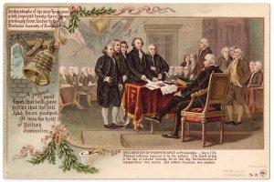 Patriotic Postcard Colonial Heroes #20 Schwalbach Declaration Independence  PMC