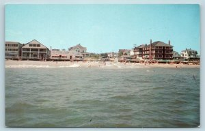 Postcard DE Rehoboth Beach Wagner's Candy Shop The Pink Pony Bar AE11