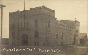 Thief River Falls MN Auditorium c1910 Real Photo Postcard