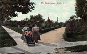 The Park, Asbury Park, New Jersey, Early Postcard, Used in 1908