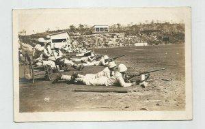 Photo POSTCARD ~ Sailors ~US Navy ~ Rifles Target Practice ~ Circa 1908 ~ 89