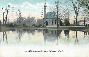 Lindenwood in Fort Wayne Indiana IN 1908 Divided Back