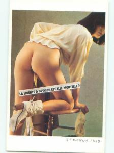 1979 Risque limited edition NUDE FRENCH GIRL BENDING OVER AB7234-22