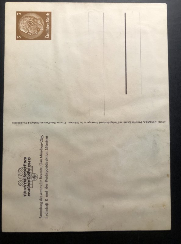 Mint postal Stationery picture Postcard Germany Winter's Fund 1934-35