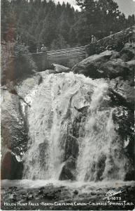 Colorado Springs Colorado~Helen Hunt Falls~North Cheyenne Canon~1950s RPPC