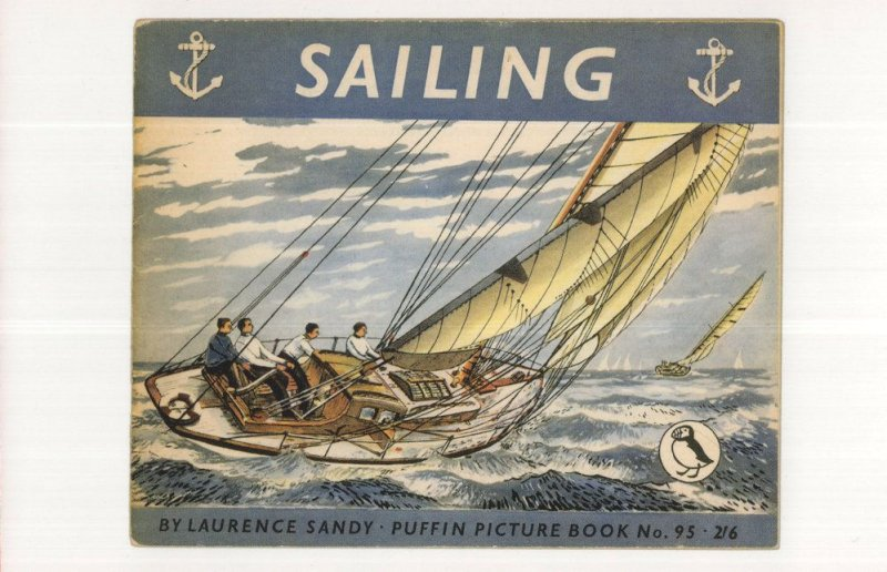 Sailing By Lawrence 1953 Puffin Book Postcard