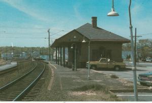 MYSTIC, Connecticut, 1950-60s; Mystic Railroad Station