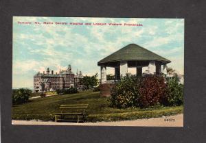 ME Maine General Hospital Lookout Western Promenade Portland Maine Postcard
