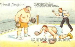 Boxing Postcard Post Cards Old Vintage Antique Postcard