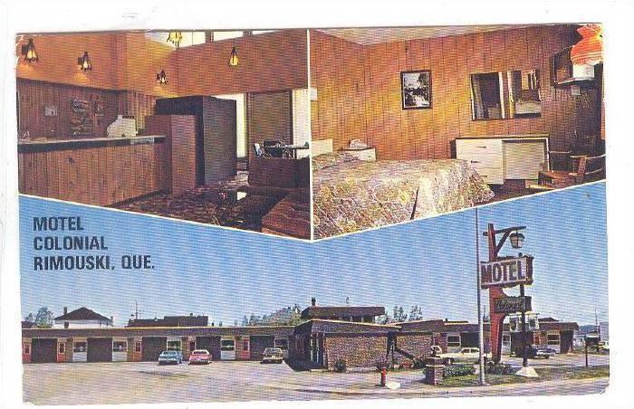 Motel Colonial , RIMOUSKI , Quebec , Canada , 40-60s