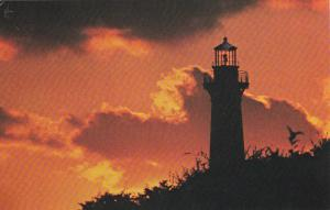 CAPE HATTERAS , North Carolina, 50-60s ; Morning Silhouette of Lighthouse