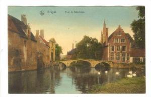 Bridge, Pont Du Beguinage, Bruges (West Flanders), Belgium, 1900-1910s