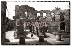 Old Postcard Bordeaux ruins of palace Gallien