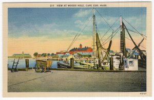 Cape Cod, Mass, View At Woods Hole