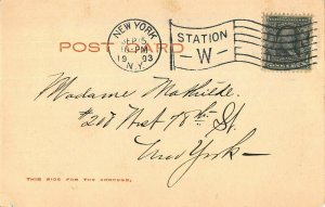NEW YORK CITY~MADISON SQUARE GARDEN~1903 ROTOGRAPH PHOTO POSTCARD