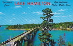 Arkansas Hot Springs Greetings From Lake Hamilton Bridge