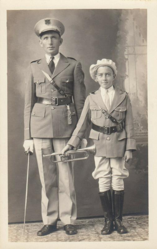 RP: Man & Boy in Uniform , Bugle & Sword , 00-10s