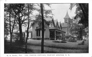 Foster Cottage Clifton Springs, New York Postcard