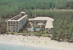 Aerial View Of The Glamourous Nassau Beach Hotel, Nassau, Bahamas, 1950-1970s