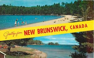 Scenic Greetings from New Brunswick NB Chrome