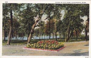 Minnesota Alexandria Scene In City Park