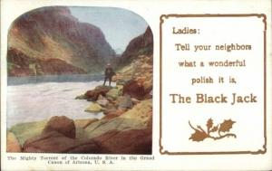 Black Jack Polish - Colorado River Grand Canyon AZ c1910 Postcard
