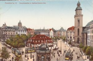 FRANKFURT a. Main, Hauptwache m. Katharinenkirche, Street Car, Hesse, Germany...