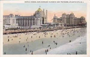 New Jersey Atlantic City Hotels Dennis Marlborough Blenheim And Traymore 1921
