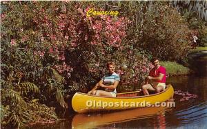 Old Vintage Rowing Postcard Post Card Canoeing Unused