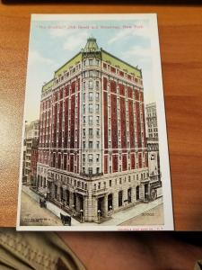 Antique Postcard The Breslin, 29th Street and Broadway, New York