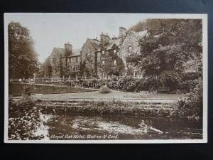Wales: Bettws Y Coed ROYAL OAK HOTEL - Old RP Postcard