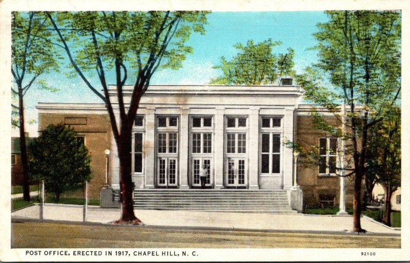 North Carolina Chapel Hill Post Office Erected In 1917 Curteich