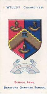 Wills Vintage Cigarette Card School Arms 1906 No 45 Bradford Grammar School