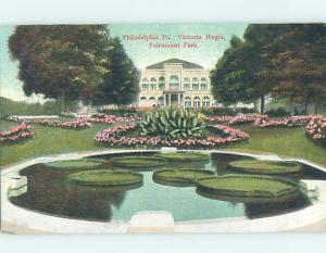 Divided-Back VICTORIA REGIA AT FAIRMOUNT PARK Philadelphia Pennsylvania PA H2619