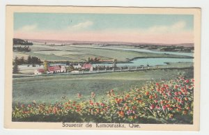 P2173 old unused postcard souvenir de kamouraska quebec canada