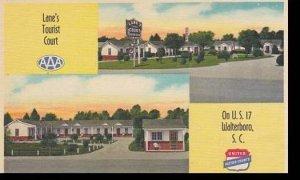 South Carolina Walterboro Lanes Tourist Court