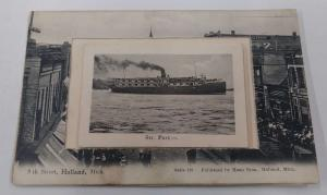 Holland Michigan Novelty Fold out Views Antique Postcard J75975