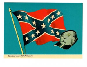 Greetings from Rebel Country, Confederate Flag