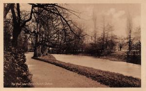 Vintage Real Photo Oxford Postcard The Cher near Christ Church N59