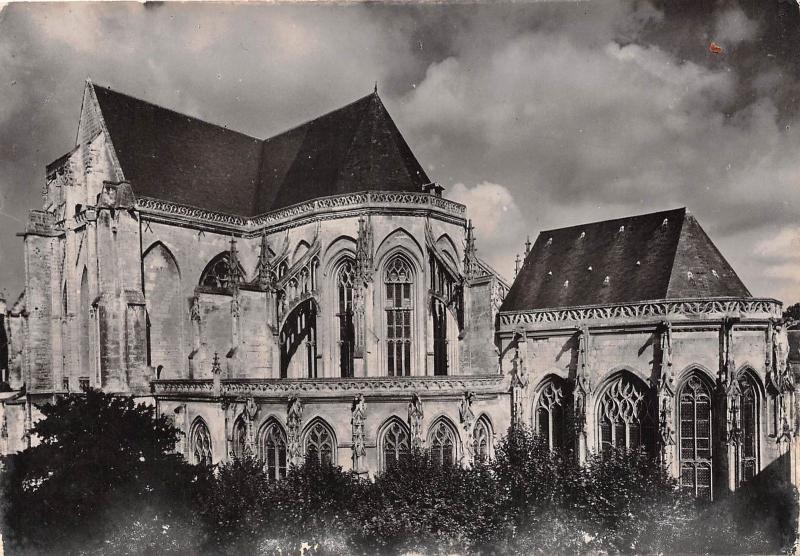 BR10666 Saint Riquier Eglise Abbatiale le chevet france