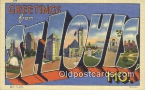 St. Louis, MO, USA Large Letter Town Unused