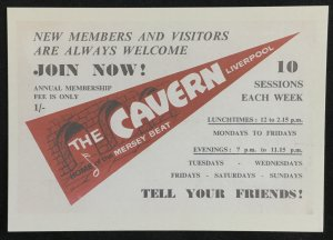 Unused The Cavern Home of the Mersey beat England Beatles Lore