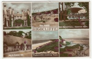 Dorset; Highcliffe Multiview RP PPC By Nigh, 1954, To Miss Harrison, Leicester