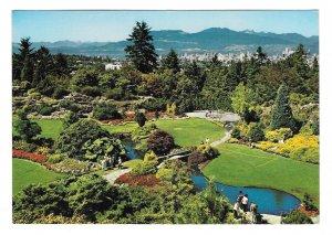 Canada Vancouver Queen Elizabeth Park Aerial View Vintage 4X6 Postcard