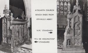 Aysgarth Church & Falls Yorkshire Oilette Bench Altar Chair Ends RPC 2x Postcard
