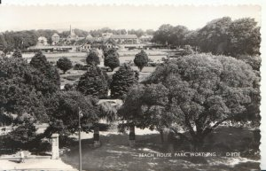 Sussex Postcard - Beach House Park - Worthing - Real Photograph - Ref 2697A