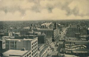 Bird's Eye Looking East from St Paul and Main, Rochester, New York - DB
