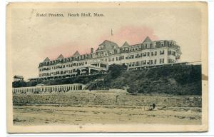 Hotel Preston Beach Bluff Massachusetts 1913 postcard