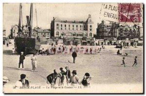 Berck Beach - The Beach and the Casino - Old Postcard
