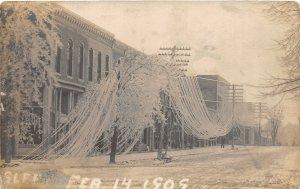 G25/ Chicago Illinois RPPC Postcard 1909 Valentine's Day Blizzard Disaster 2
